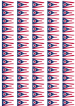 Ohio Flag Stickers - 65 per sheet